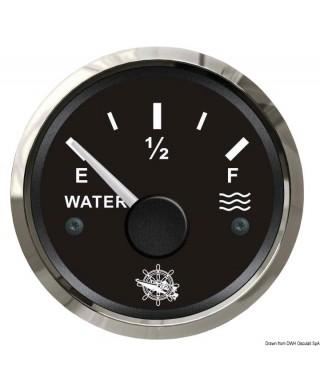 Jauge d'eau 240/33 Ohm Cadran noir lunette polie 51mm