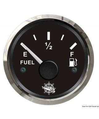 Jauge de carburant 240/33 Ohm Cadran noir lunette polie 51mm