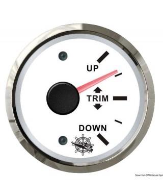 Indicateur de trim 0/190 Ohm Cadran blanc lunette polie 51mm