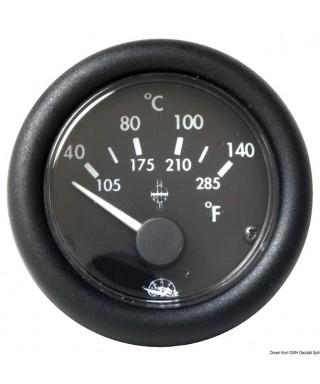 Indicateur température Guardian huile 40-150° 12V Cadran noir frette noire