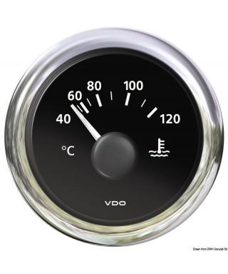 Thermomètre eau noir H2O 40/120°C+105/250°F 12/24V 52mm