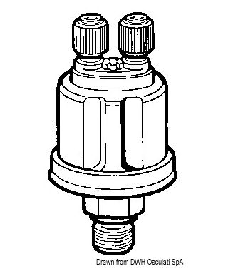 Bulbe pression d'huile VDO 25 bar 1/8-27 NPT pôles à masse