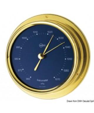 Baromètre cadran bleu Barigo Regatta Laiton poli 100mm