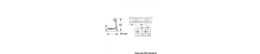 Profilés de fargue et accessoires en inox AISI 316