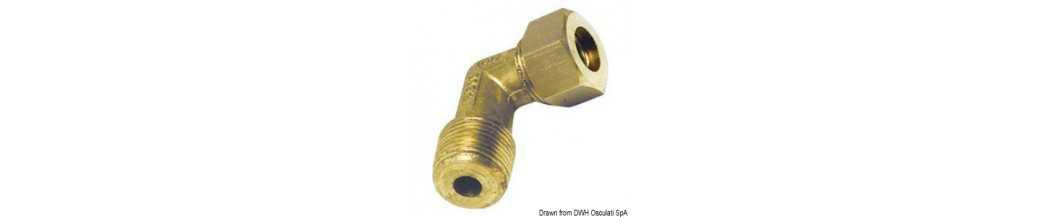 Raccords à compression en laiton pour tube en cuivre avec joint Biconique en Laiton
