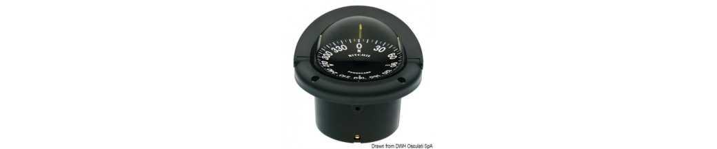 Compas RITCHIE Helmsman 3' 3/4 (94 mm) avec compensateurs et éclairage